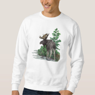 Bull moose art sweatshirt