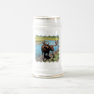 Bull Moose Beer Stein