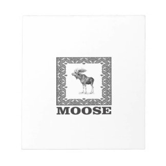 bull moose in a box notepad