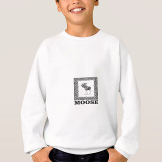 bull moose in a box sweatshirt