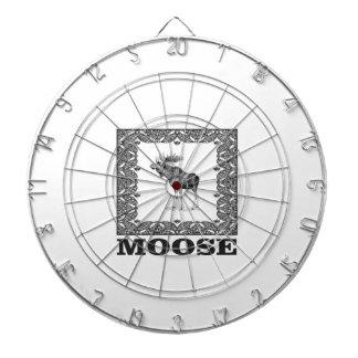 bull moose in a frame dartboard