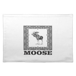 bull moose in a frame placemat