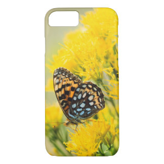 Bull Moose jousting in field with Cottonwood Trees iPhone 7 Case