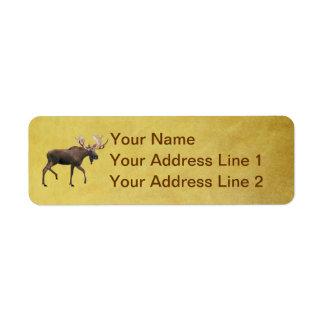 Bull Moose Custom Return Address Label