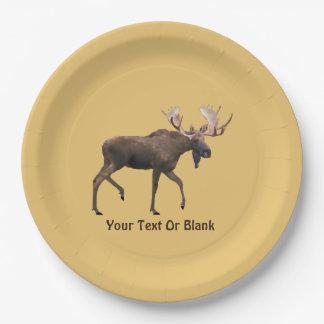 Bull Moose Paper Plate