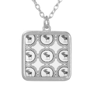 Bull Moose rings fun Silver Plated Necklace