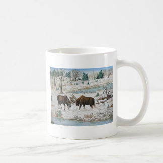 Bull Moose Wildlife Art Coffee Mug