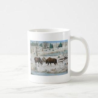 Bull Moose Wildlife Art Coffee Mug