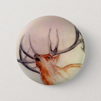 BULL OF THE WOODS STRENGTH ELK 2 INCH ROUND BUTTON