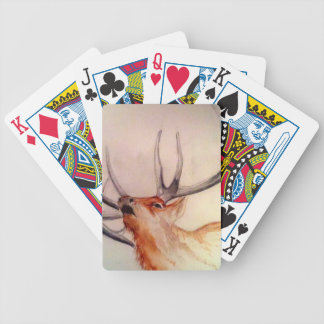 BULL OF THE WOODS STRENGTH ELK BICYCLE PLAYING CARDS