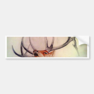BULL OF THE WOODS STRENGTH ELK BUMPER STICKER