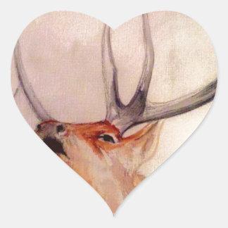BULL OF THE WOODS STRENGTH ELK HEART STICKER