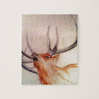 BULL OF THE WOODS STRENGTH ELK JIGSAW PUZZLE
