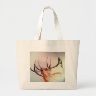 BULL OF THE WOODS STRENGTH ELK LARGE TOTE BAG