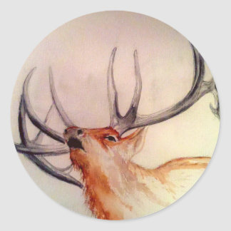 BULL OF THE WOODS STRENGTH ELK ROUND STICKER