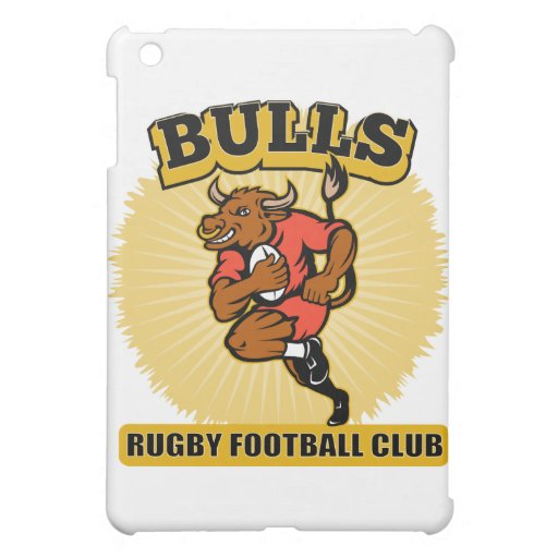 Bull playing rugby running with ball iPad mini cover