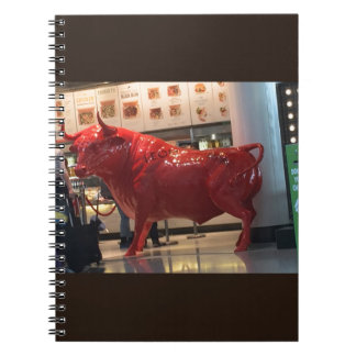 Bull Power Red Furious Animal Fighting Fit Friend Notebooks
