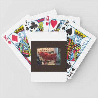 Bull Power Red Furious Animal Fighting Fit Friend Poker Deck