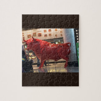 Bull Power Red Furious Animal Fighting Fit Friend Puzzle