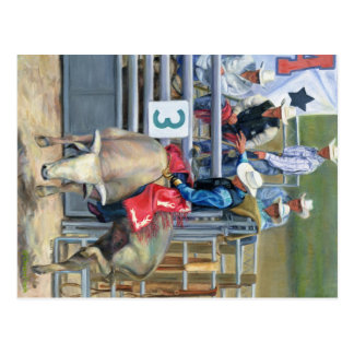 Bull Ride Postcard
