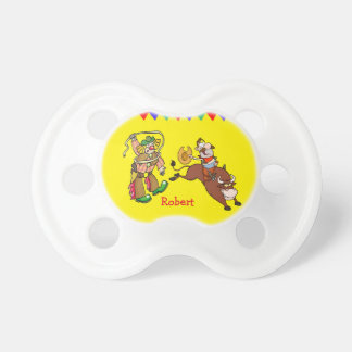 Bull Rider and Rodeo Clown Personalize Pacifiers