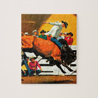 Bull Riding by Fred Ludekens Puzzles