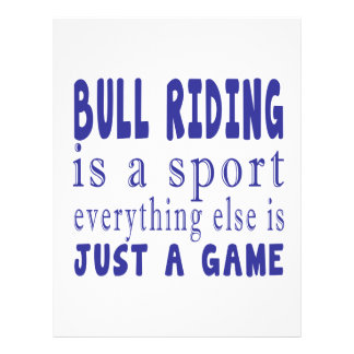 BULL RIDING JUST A GAME PERSONALIZED LETTERHEAD