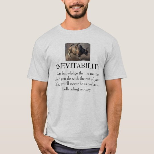 Bull-Riding Monkey T-Shirt