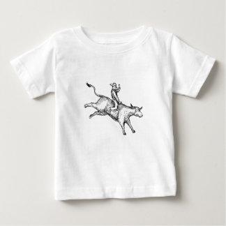 Bull Riding Rodeo Cowboy Drawing Baby T-Shirt