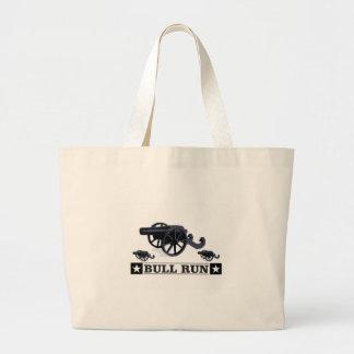 bull run guns large tote bag