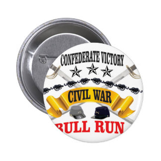 bull run of civil war 2 inch round button