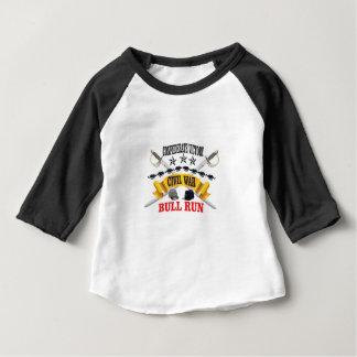 bull run of civil war baby T-Shirt