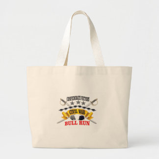 bull run of civil war large tote bag
