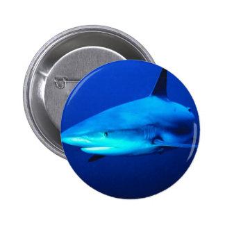 Bull Shark 2 Inch Round Button