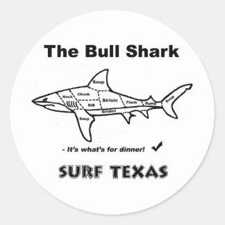 Bull Shark Classic Round Sticker