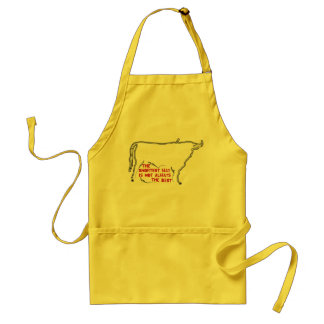 Bull silhouette English text Standard Apron