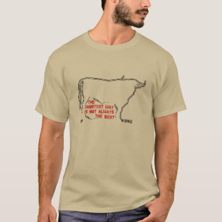 Bull silhouette English text T-Shirt