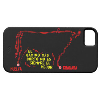 Bull silhouette with Spanish text and custom towns iPhone 5 Covers