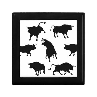 Bull Silhouettes Gift Box