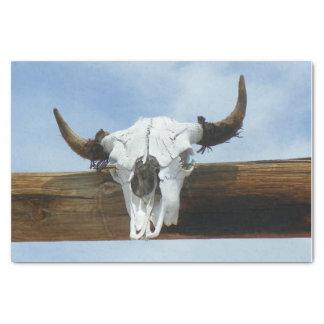 Bull Skull Tissue Paper
