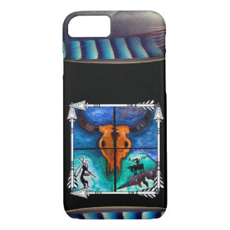 Bull Skull with Feathers and Arrows iPhone 8/7 Case