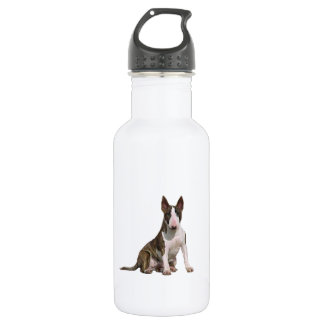 Bull Terrier (B) - Brindle and white 532 Ml Water Bottle