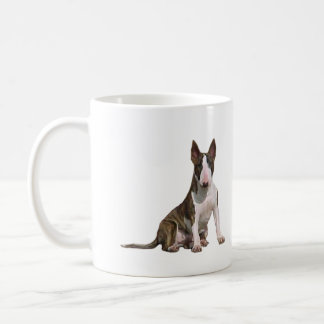 Bull Terrier (B) - Brindle and white Coffee Mug