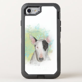 Bull Terrier Blue Butterfly OtterBox Defender iPhone 7 Case