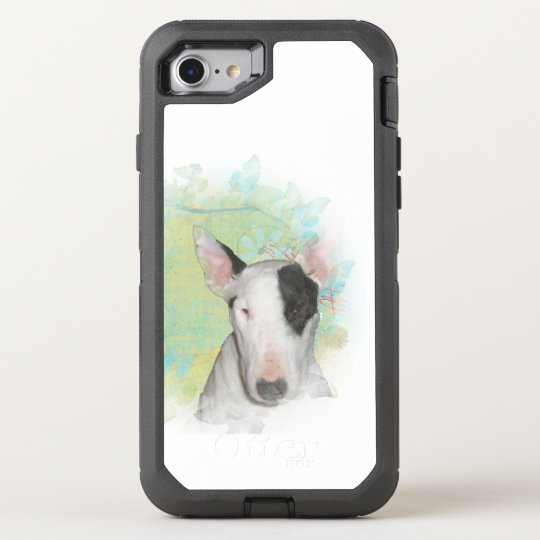 Bull Terrier Blue Butterfly OtterBox Defender iPhone 8/7 Case
