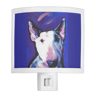 Bull Terrier Bright Colorful Pop Dog Art Nite Lights