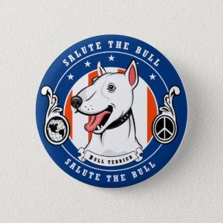 Bull Terrier Button Blue