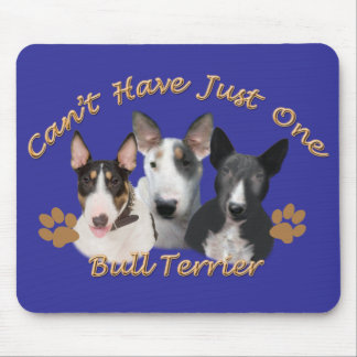 Bull Terrier Can't Have Just One Mouse Pad