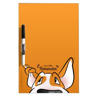 Bull Terrier Cartoon Dry Erase Board