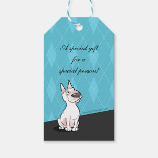 Bull Terrier Cartoon Gift Tag